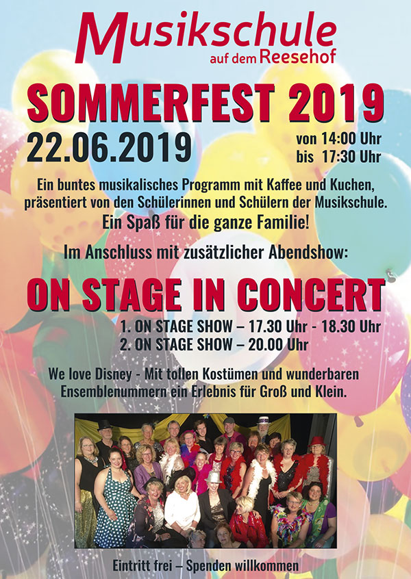 Sommerfest 2019 & ON STAGE in concert